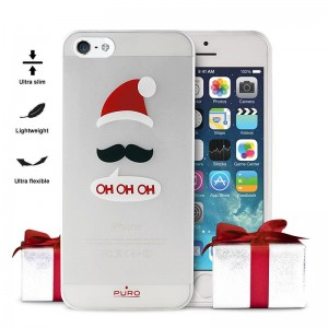 "PURO Ultra Slim ""0.3"" [Christmas OHOHOH], Ultra cienkie etui dla iPhone SE/5/5S"