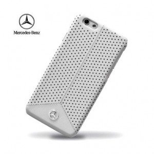 Mercedes-Benz Leather Case [Grey], Skórzane etui do iPhone 6/6s