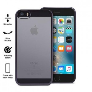 PURO Satin Cover [Space Grey], Etui silikonowe do iPhone 5/5s/SE