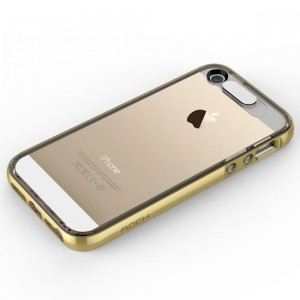 "Rock Light Tube Case [Gold], ""Świecące etui z dla iPhone 5/5s/SE"