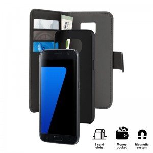 PURO Wallet Detachable [Black], Etui & portfel do Galaxy S7 Edge