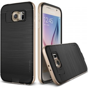Verus Case Iron Shild [Gold], Etui z aluminiową ramką do Galaxy S6