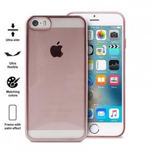 PURO Satin Cover [Rose Gold], Etui silikonowe do iPhone 5/5s/SE