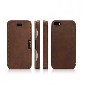 I-Carer Vintage Series [Brown], Skórzane etui dla iPhone 5/5S/SE