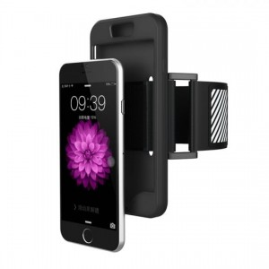 Tech-Protect Armband [Black], Sportowe etui na rękę dla iPhone 6/6s