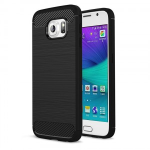 Tech-Protect TPU Carbon [black], Etui dla Galaxy s6