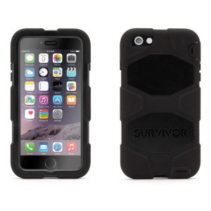 "Griffin Survivor All-Terrain [Black], Pancerne etui z klipsem dla iPhone 6+ (5.5"")"