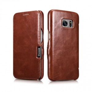Icarer Vintage Series [Brown], Skórzane etui do Galaxy S7