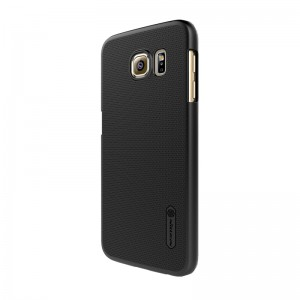 Nillkin Frosted Shield [Black], Etui z folią dla Galaxy S6 Edge