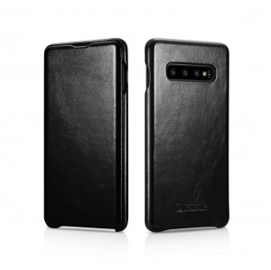 ICarer Vintage [Black], Skórzane etui do Galaxy S10
