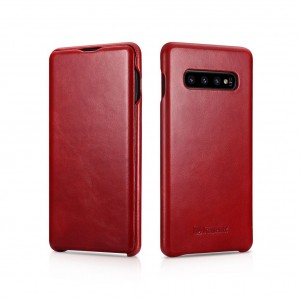 ICarer Vintage [Red], Skórzane etui do Galaxy S10
