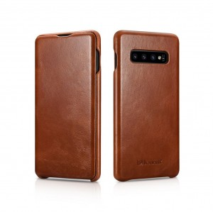 ICarer Vintage [Brown], Skórzane etui do Galaxy S10+ Plus