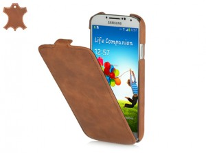 STILGUT Ultra Slim VE [Cognac], Zamszowe etui do Galaxy S4
