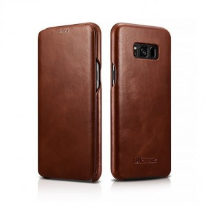 ICarer Vintage Series [Brown], Skórzane etui do Galaxy S8