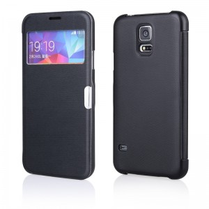 Flip Case Magnetic [Black], Etui z okienkiem do Galaxy Alpha