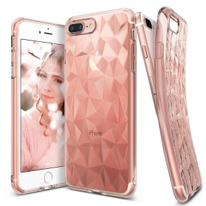 Ringke Air Prism [Rose Gold], Etui z folią na ekran dla iPhone 7 Plus/ 8 Plus