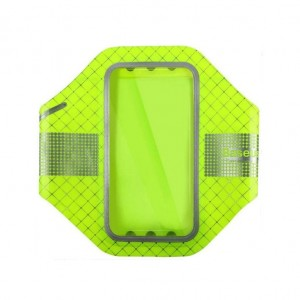 Baseus Ultra-Thin Sports Armband [Green], Opaska sportowa na ramię do smartfonów do 5.5""