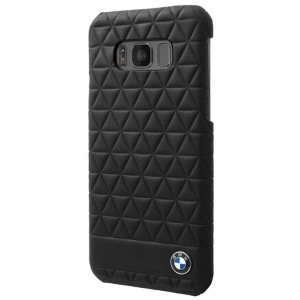 BMW Hexsagon Case [Black], Etui skórzane do Galaxy S8