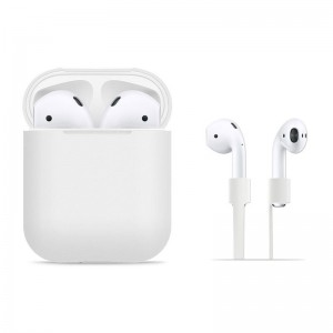 Tech-Protect Set AirPods [White], Etui i opaska do słuchawek Apple AirPods