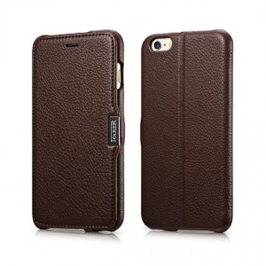 I-Carer Latchi  [Dark Brown], Skórzane etui dla iPhone 6 Plus