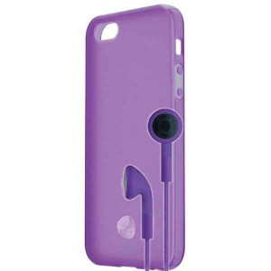 Signature TPU Shell & Earphone [Purple], Etui dla iPhone 5/5s