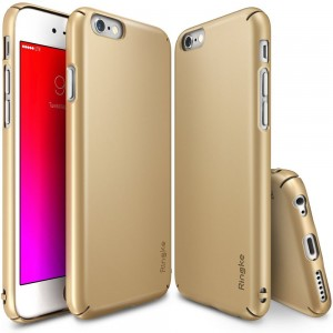 Ringke Slim [Gold], Etui z folią dla iPhone 6/6S Plus