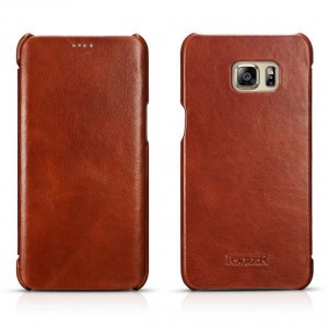I-Carer Vintage Series [Brown], Skórzane etui dla Galaxy S6 Edge +