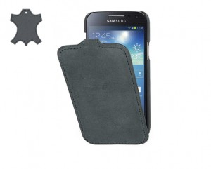 STILGUT Ultra Slim [Storm Grey], Zamszowe etui do Galaxy S4 mini