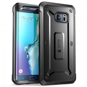 SUPCASE Unicorn Beetle Pro [Black], Pancerne Etui dla Galaxy S6 Edge Plus