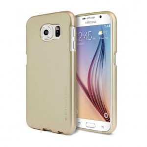 Mercury/Goospery i-Jelly Metal Case [Gold], Pokrowiec silikonowy dla Galaxy S6 Edge