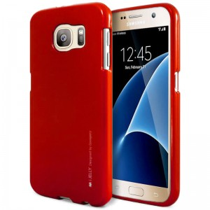Mercury/Goospery iJelly Case [Red], Pokrowiec dla GALAXY S7