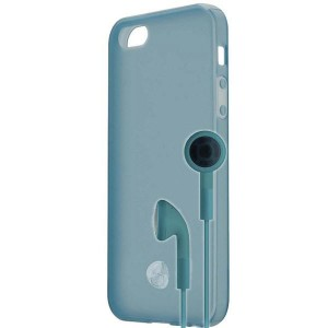 Signature TPU Shell & Earphone [Blue], Etui dla iPhone 5/5S