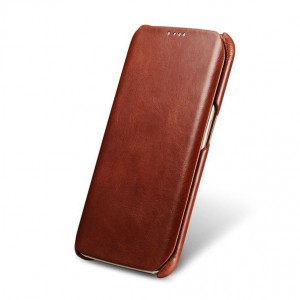 I-Carer Vintage Series [Brown], Skórzane etui dla Galaxy S6 Edge
