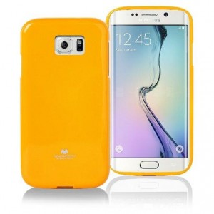 Mercury/Goospery Jelly Case [Yellow], Pokrowiec silikonowy dla GALAXY S6 Edge