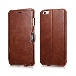 I-Carer Vintage Series [Brown], Skórzane etui dla iPhone 6 Plus