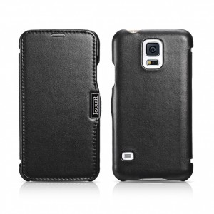 I-Carer Luxury Series [Black], Skórzane etui Galaxy S5/S5 Neo
